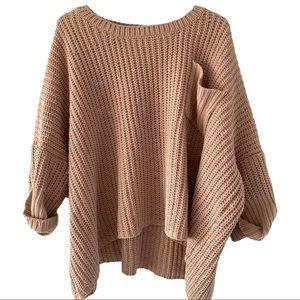 She + Sky oversized soft crew neck knit sweater